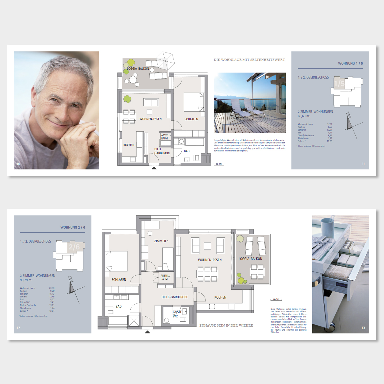 Grafikdesign + Farbdesign. Erstellung von Exposés