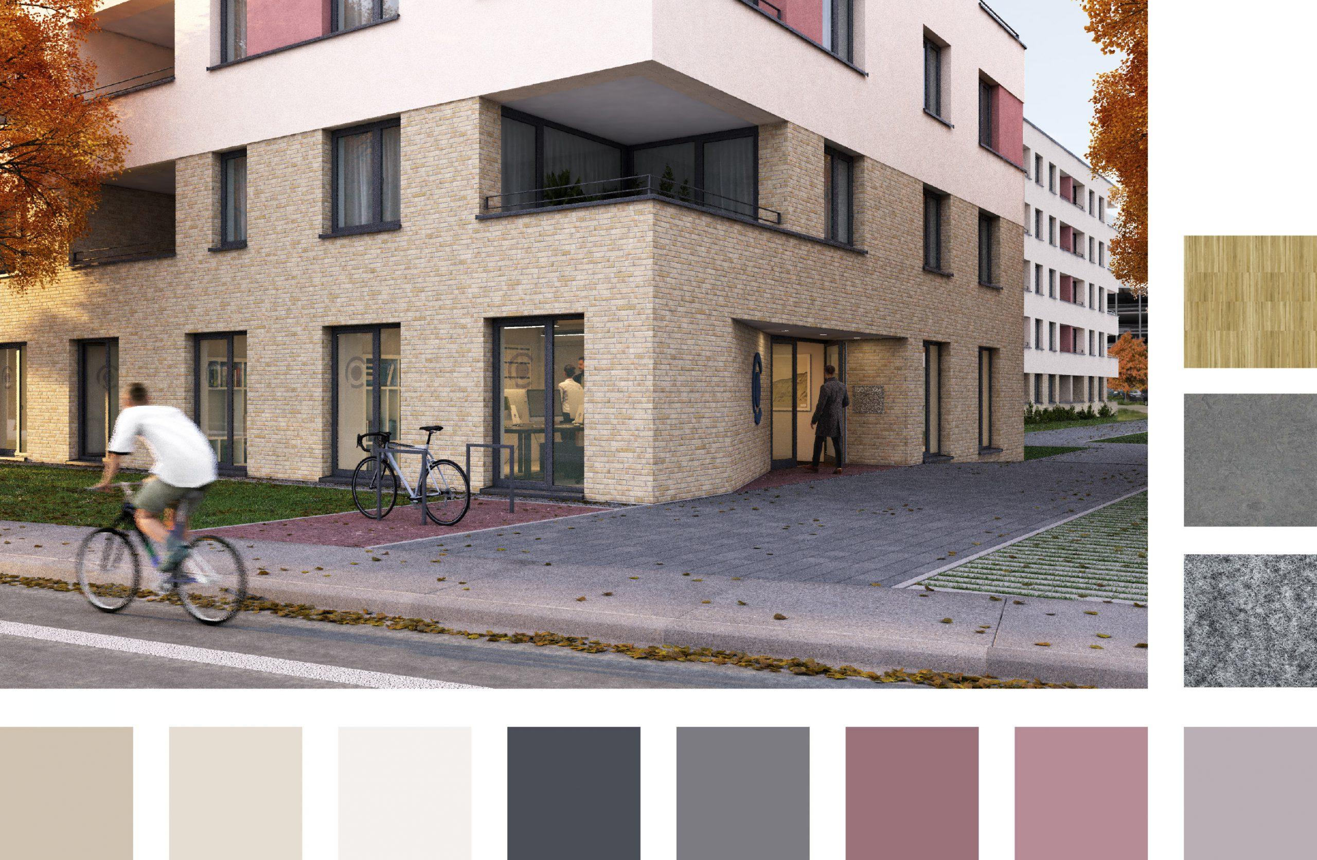 Architektur. Visualisierung Büroräume
