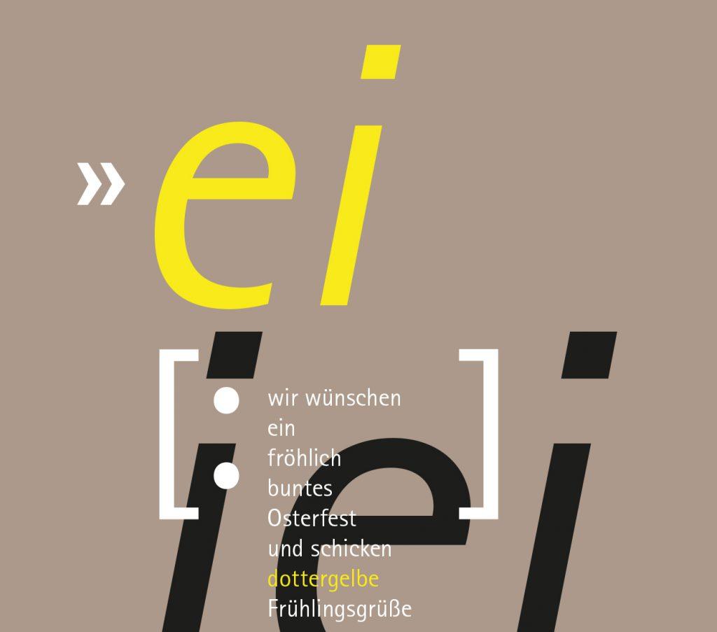 Grafikdesign. Printmedium. Ostermailing.